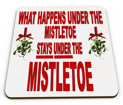 What Happens Under The Mistletoe Stays Under The Mistletoe Funny Mug COASTER